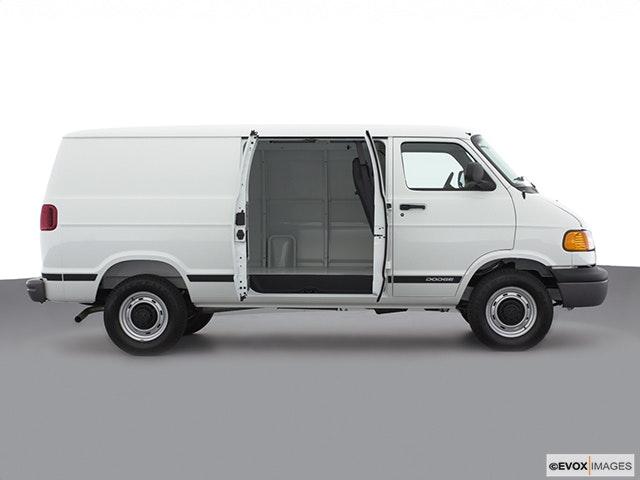 2000 Dodge Ram Van Passenger's side view, sliding door open (vans only)