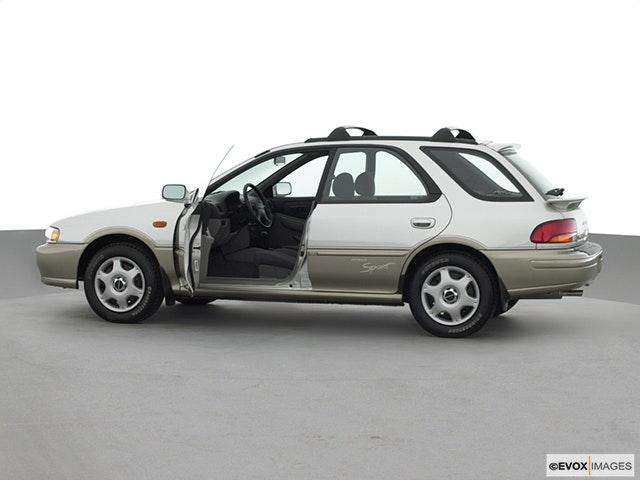 2000 Subaru Impreza Driver's side profile with drivers side door open