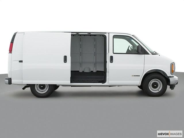 2001 Chevrolet Express Cargo Passenger's side view, sliding door open (vans only)