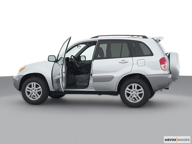 2001 Toyota RAV4 Driver's side profile with drivers side door open