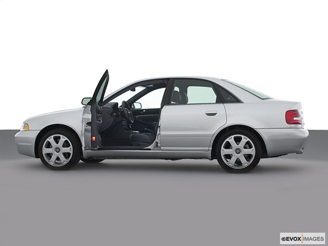 2002 Audi S4 Driver's side profile with drivers side door open