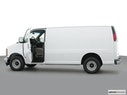 2002 Chevrolet Express Cargo Driver's side profile with drivers side door open