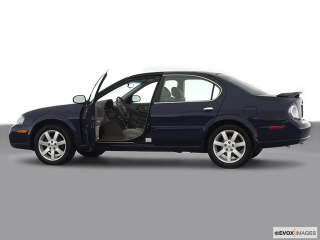 2002 Nissan Maxima Driver's side profile with drivers side door open