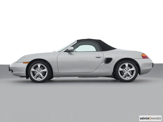 2002 Porsche Boxster Drivers side profile, convertible top up (convertibles only)