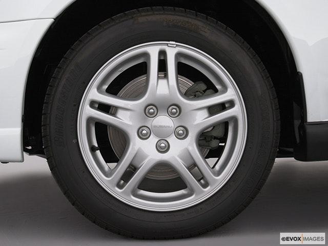 2002 Subaru Impreza Front Drivers side wheel at profile