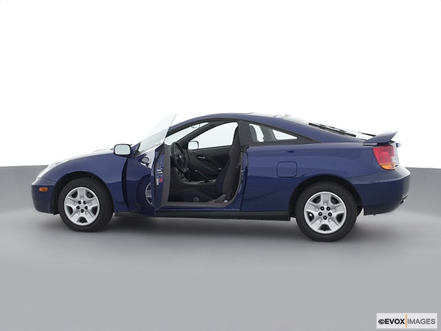 2002 Toyota Celica Driver's side profile with drivers side door open