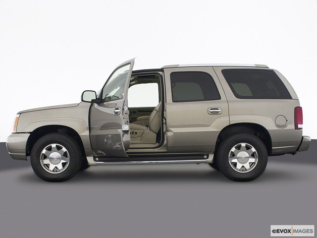 2003 Cadillac Escalade Driver's side profile with drivers side door open
