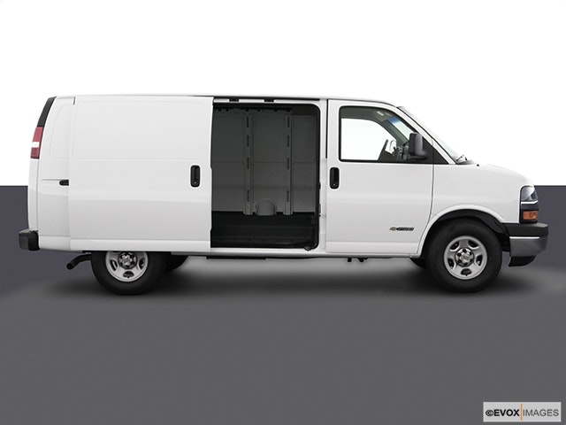 2003 Chevrolet Express Cargo Passenger's side view, sliding door open (vans only)
