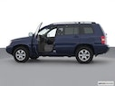 2003 Toyota Highlander Driver's side profile with drivers side door open