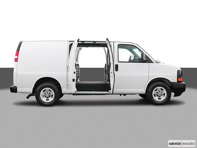 2004 Chevrolet Express Cargo Passenger's side view, sliding door open (vans only)
