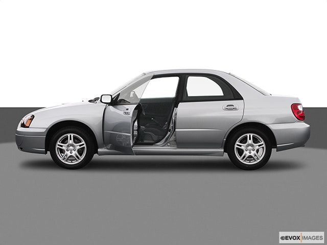 2005 Subaru Impreza Driver's side profile with drivers side door open