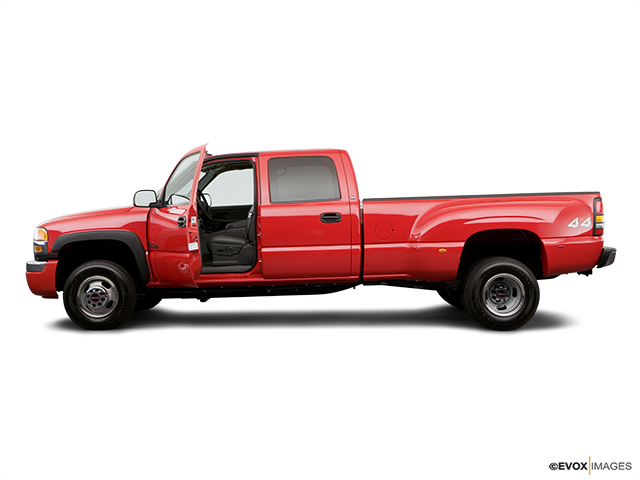 2006 GMC Sierra 3500 Driver's side profile with drivers side door open