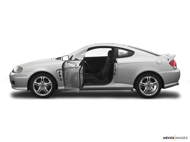 2006 Hyundai Tiburon Driver's side profile with drivers side door open