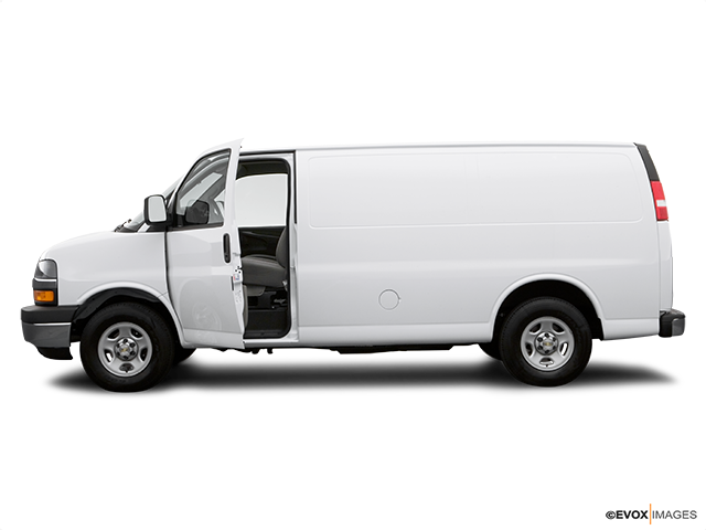 2007 Chevrolet Express Cargo Driver's side profile with drivers side door open