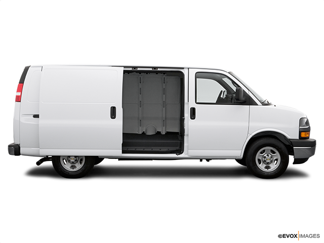 2007 Chevrolet Express Cargo Passenger's side view, sliding door open (vans only)