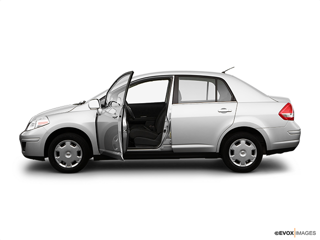 2007 Nissan Versa Driver's side profile with drivers side door open