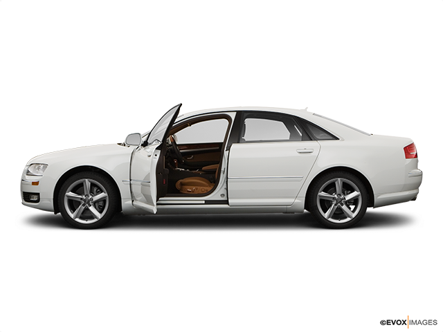 2008 Audi A8 Driver's side profile with drivers side door open