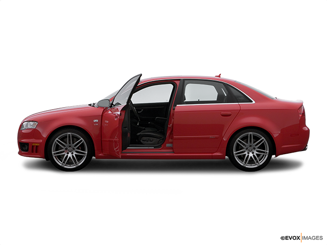 2008 Audi RS 4 Driver's side profile with drivers side door open