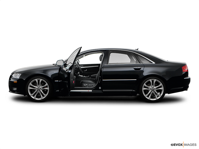 2008 Audi S8 Driver's side profile with drivers side door open