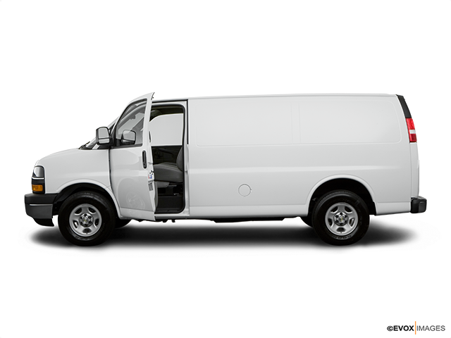 2008 Chevrolet Express Cargo Driver's side profile with drivers side door open