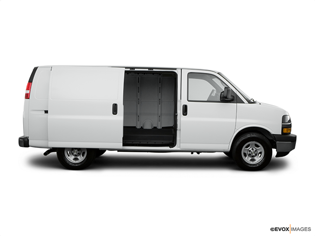 2008 Chevrolet Express Cargo Passenger's side view, sliding door open (vans only)