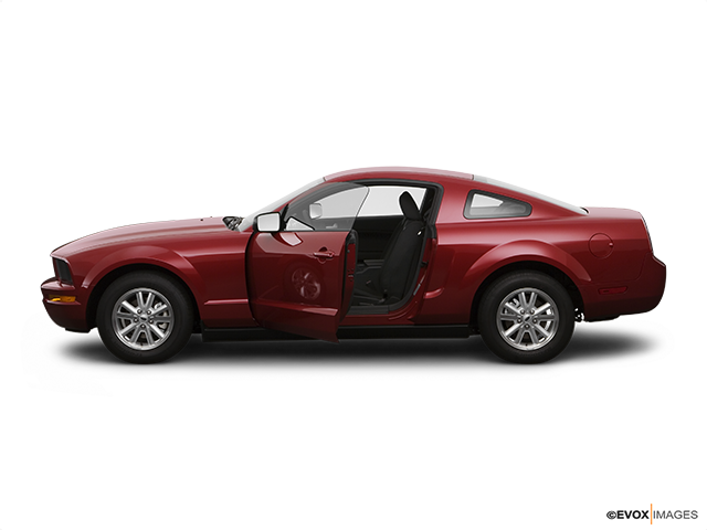2008 Ford Mustang Driver's side profile with drivers side door open