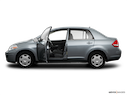 2008 Nissan Versa Driver's side profile with drivers side door open