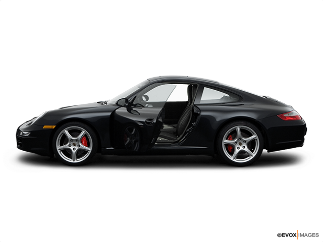 2008 Porsche 911 Driver's side profile with drivers side door open
