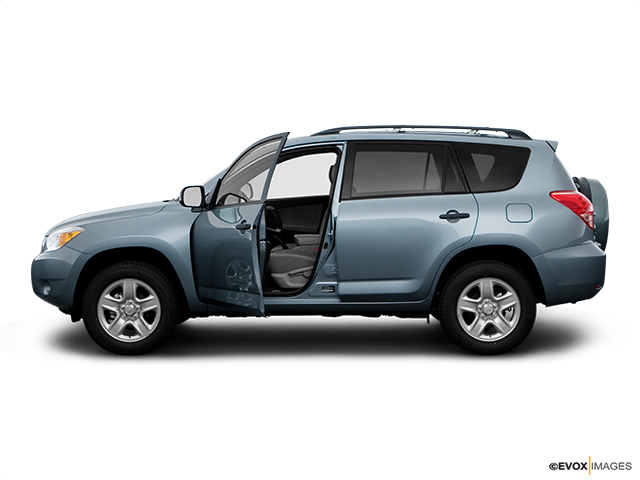 2008 Toyota RAV4 Driver's side profile with drivers side door open