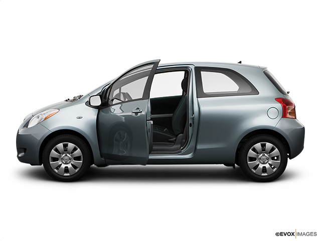 2008 Toyota Yaris Driver's side profile with drivers side door open