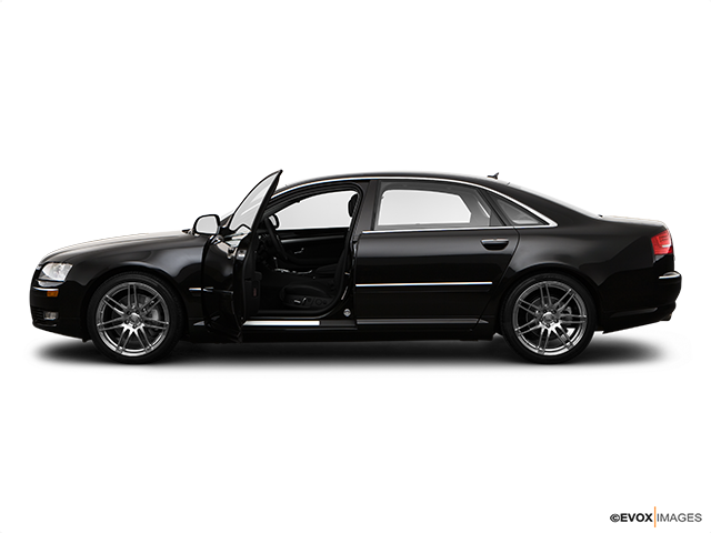 2009 Audi A8 Driver's side profile with drivers side door open