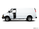 2009 Chevrolet Express Cargo Driver's side profile with drivers side door open