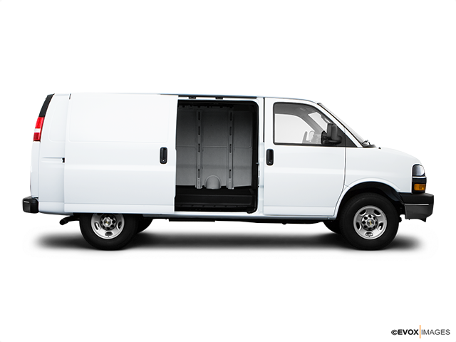 2009 Chevrolet Express Cargo Passenger's side view, sliding door open (vans only)