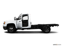 2009 GMC Sierra 3500HD Driver's side profile with drivers side door open