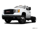 2009 GMC Sierra 3500HD Front angle view, low wide perspective