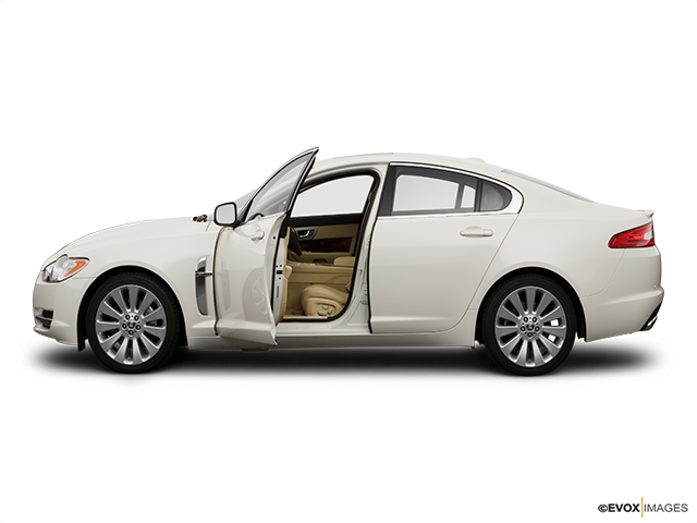 2009 Jaguar XF Driver's side profile with drivers side door open