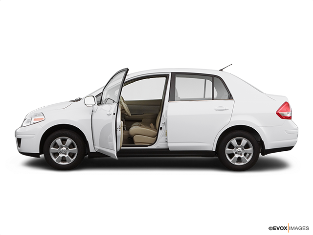 2009 Nissan Versa Driver's side profile with drivers side door open