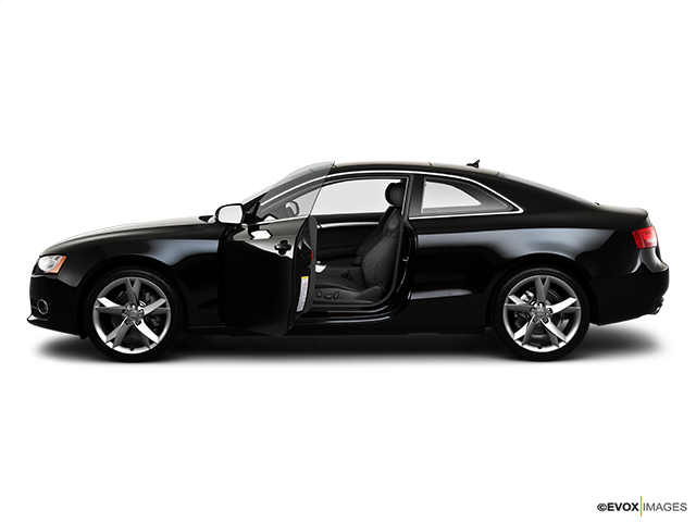 2010 Audi A5 Driver's side profile with drivers side door open