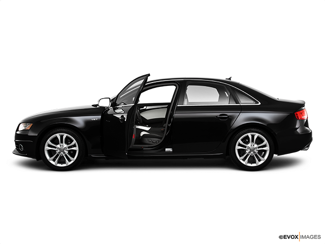2010 Audi S4 Driver's side profile with drivers side door open