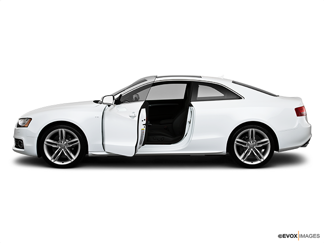 2010 Audi S5 Driver's side profile with drivers side door open