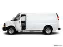 2010 Chevrolet Express Cargo Driver's side profile with drivers side door open