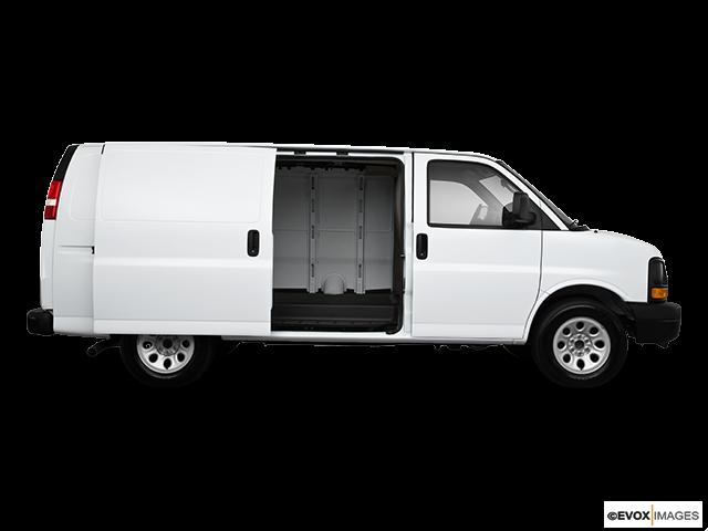 2010 Chevrolet Express Cargo Passenger's side view, sliding door open (vans only)
