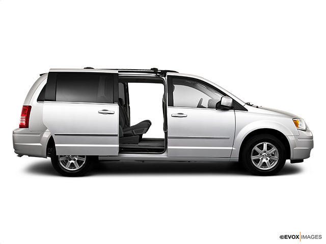 2010 Chrysler Town and Country Passenger's side view, sliding door open (vans only)