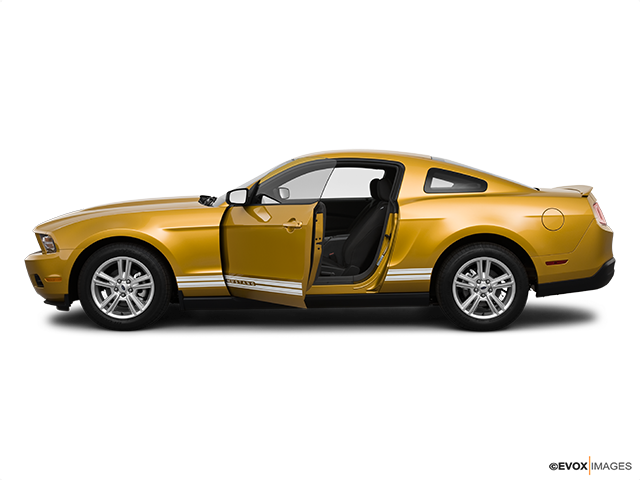 2010 Ford Mustang Driver's side profile with drivers side door open