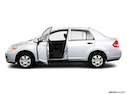 2010 Nissan Versa Driver's side profile with drivers side door open