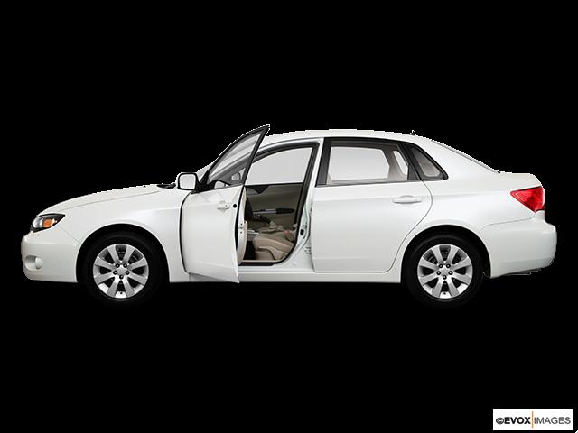 2010 Subaru Impreza Driver's side profile with drivers side door open