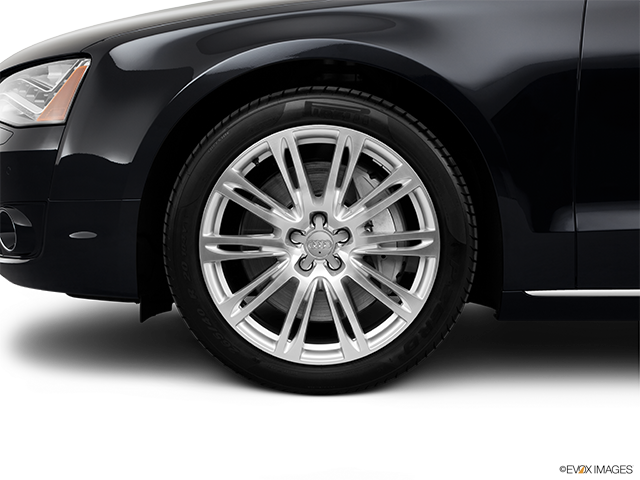 2011 Audi A8 Front Drivers side wheel at profile