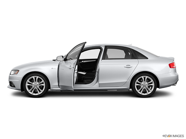 2011 Audi S4 Driver's side profile with drivers side door open