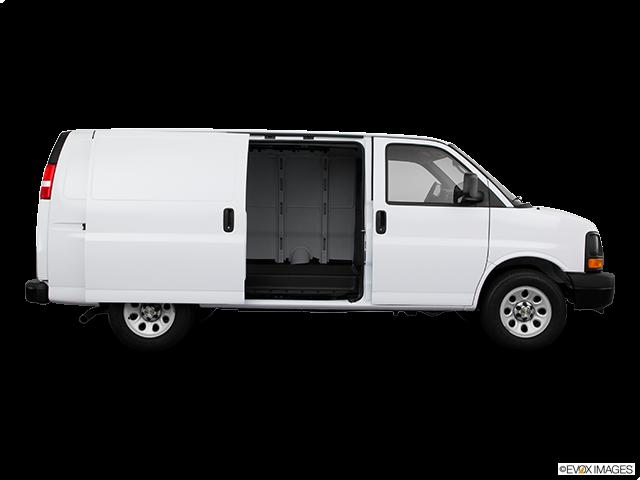 2011 Chevrolet Express Cargo Passenger's side view, sliding door open (vans only)