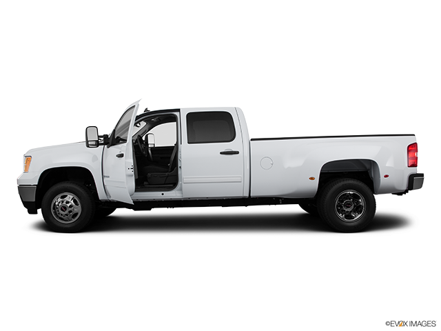 2011 GMC Sierra 3500HD CC Driver's side profile with drivers side door open